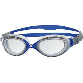 Zoggs Predator Flex Goggle Silver/Blue/Clear